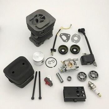 40mm Cylinder Piston Carburetor Muffler Ignition Coil Kit For Husqvarna 142 141 137 136 Chainsaw Engine Rebuild Spares Parts