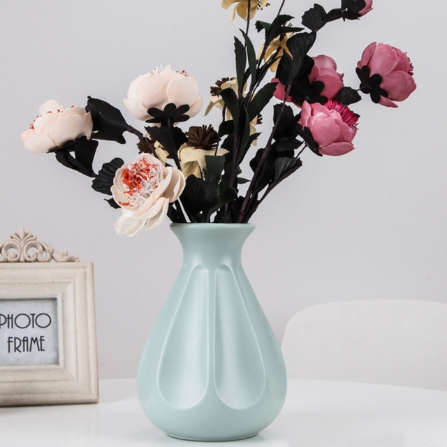 Nordic Origami Plastic Vase Imitation White Ceramic Flower Pot Flower Basket Flower Vase Decoration Home Desktop Decoration 4
