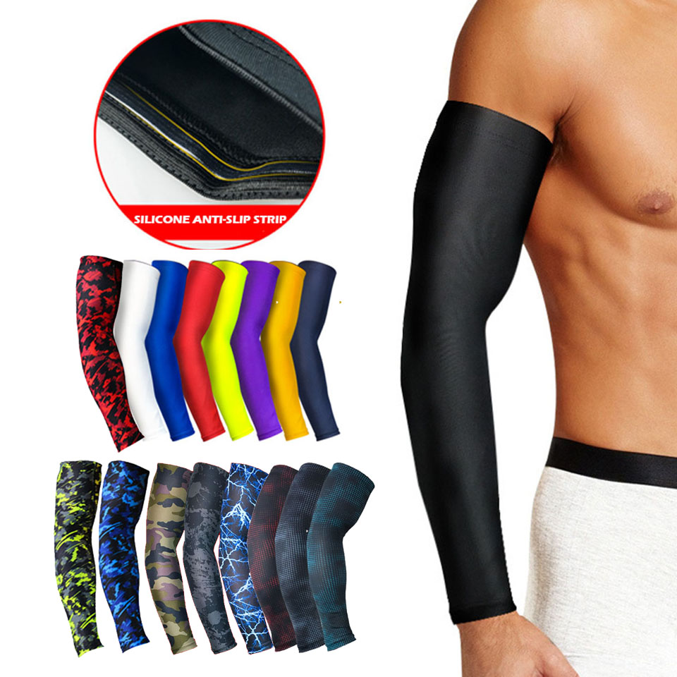 Dayselect 1Pcs Professional Sports Elastic Arm Guard Basketball Volleyball Arm Sleeves Armband Sport Elbow Pads Arm Warmers