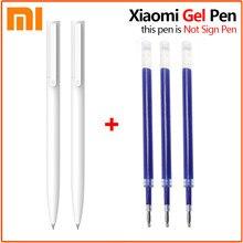 Original xiaomi mijia gel caneta 9.5mm sem tampa escrita caneta suíça reenchimento caneta esferográfica japão azul/preto tinta escola caneta escrita