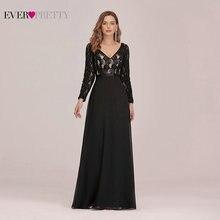 Женское вечернее платье с длинным рукавом ever pretty черное