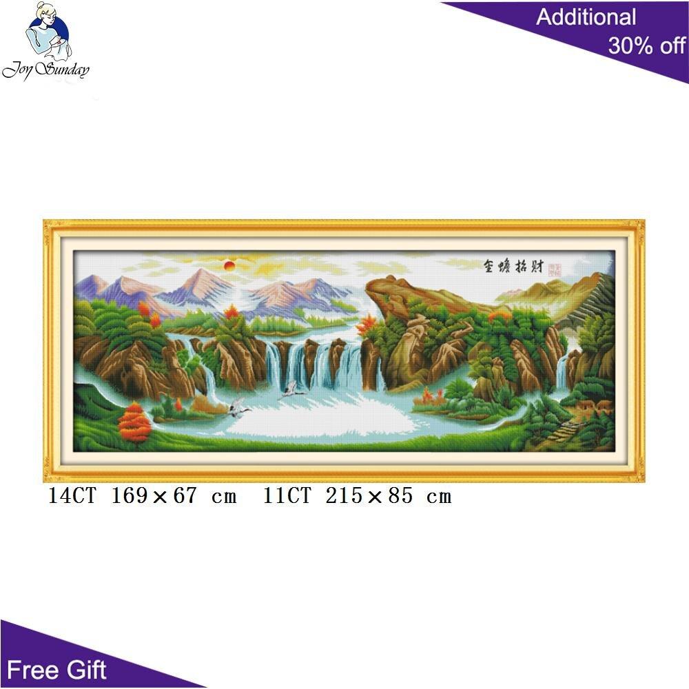 Votre cadeau chinois Sanshui peinture F235 14CT 11CT compté et estampillé décor à la maison chine doré crapaud apporter de l'argent kits de point de croix