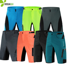WOSAWE MTB Road Men loose Cycling Short tight without Pad  Bike Bicycle Leisure Baggy 3D Padded cycling Shorts Clothings clothes