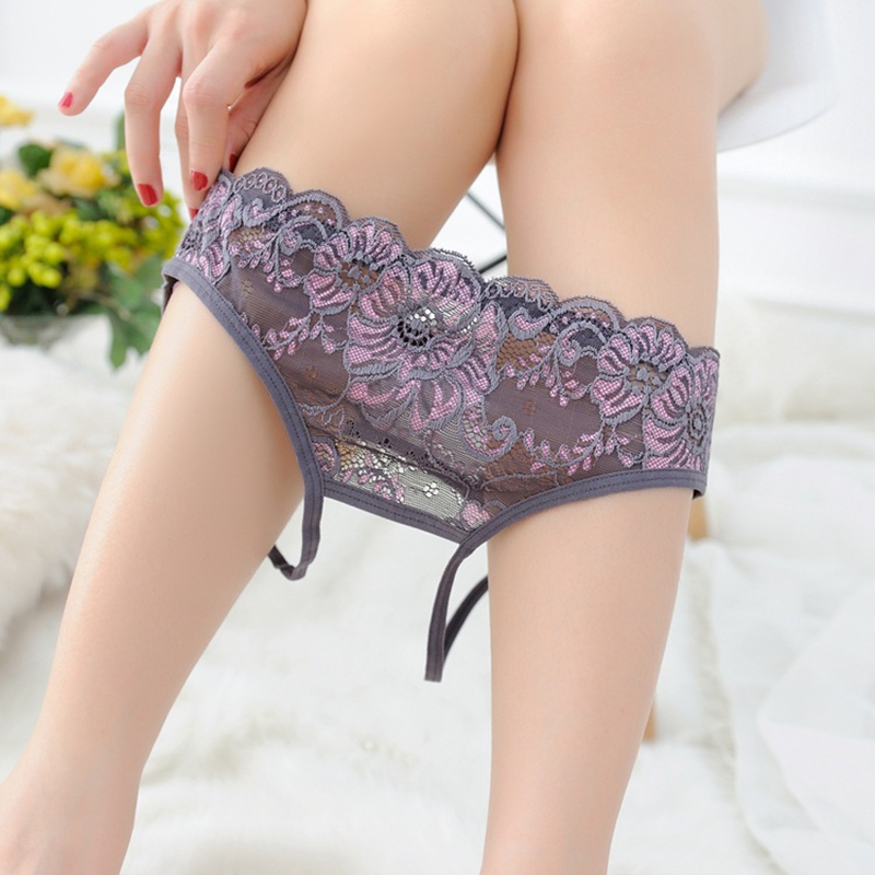 Free Shipping Sexy buttock hollow briefs seductive lace design ladies thong Women 39 s underwear S1506 LC in women 39 s panties from Underwear amp Sleepwears