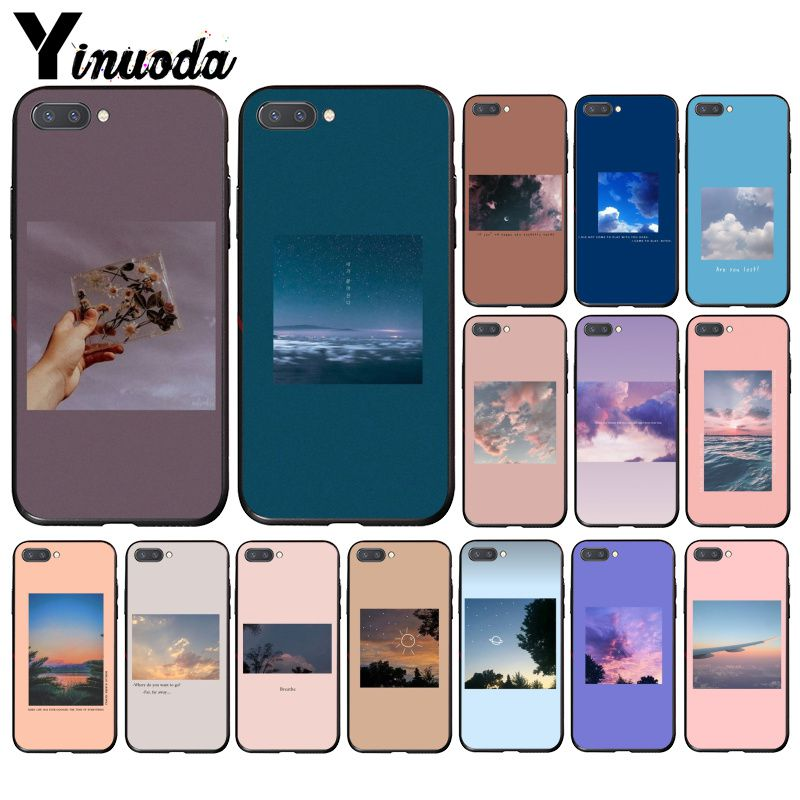 Yinuoda Great Art Blooming Flower Sea Sky Cloud Print Phone Case For Huawei Honor 8A 8X 9 10 20 Lite 7A 5A 7C 10i 20i