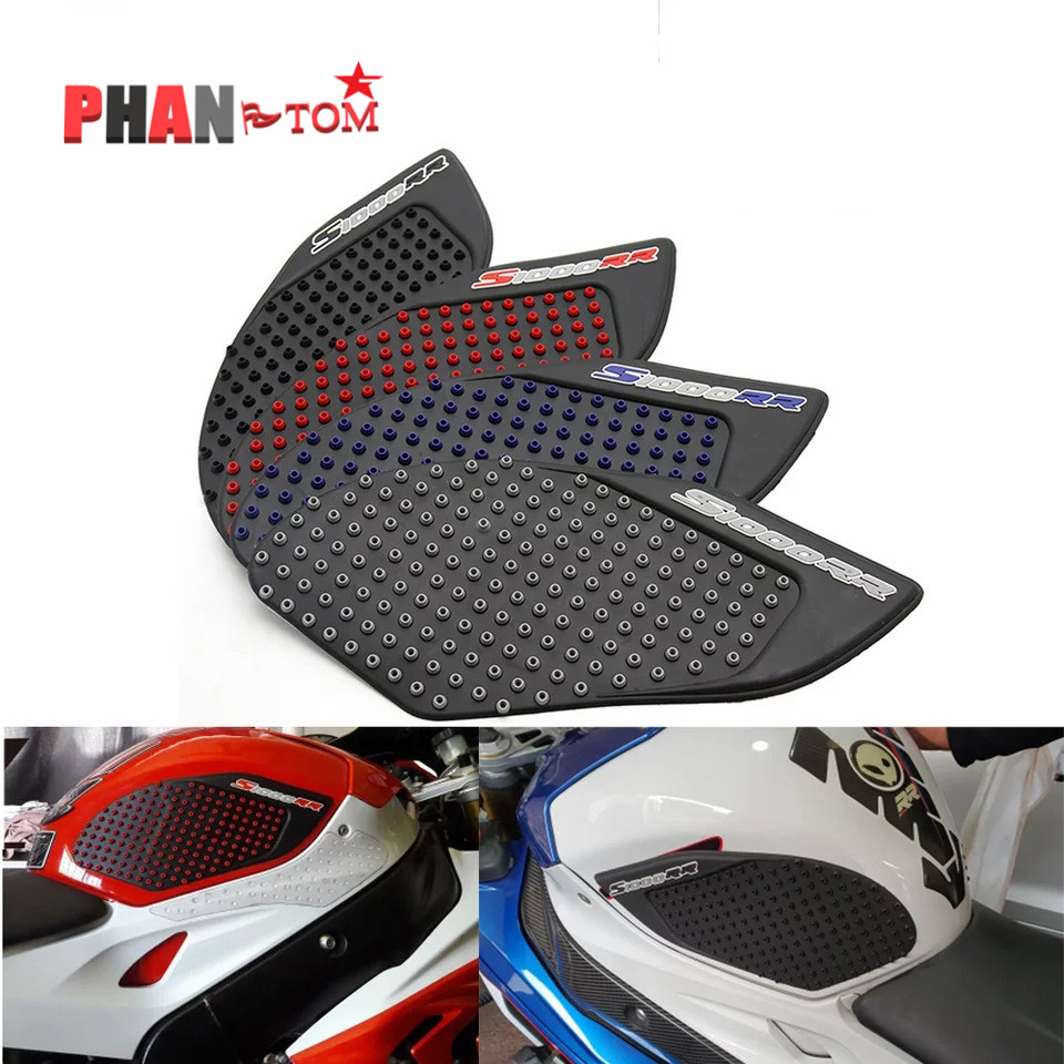 For BMW S1000RR 2010 2011 2012 2013 2014 2015 Motorcycle Protector Anti slip Fiber Tank Pad tank Side Traction 3M Sticker