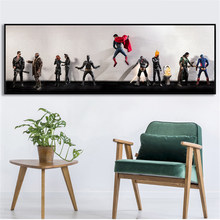 Abstract Wall Art Funny Superheros in Urinate Secret Life Wall Pictures for Living Room Home Decor Big Canvas Poster(China)