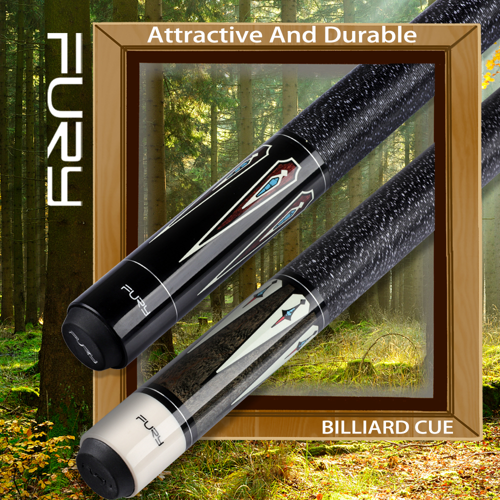 FURY DL Pool Cue With Case Perfect Billiard Cue Stick Pool Cue Kit Professional Player Use 11.75mm 13mm Tip Black 8 Cue Stick