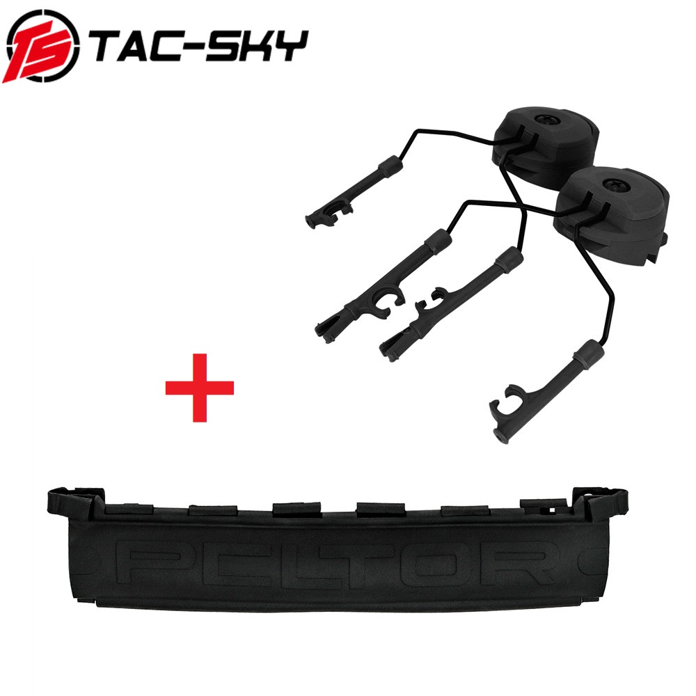 TAC-SKY Fast Ops Core Helmet ARC Track Adapter Tactical Headset COMTAC Stand And New Detachable TPE PELTOR COMTAC Headband