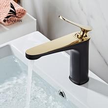 Grifos de lavabo de moda mezclador de baño grifo de lavabo de latón con un solo mango de un solo agujero elegante grúa para baño WF-855796