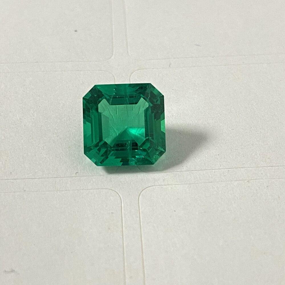 criados em laboratório Pedra Preciosa monosital Verde Esmeralda super leves Baguete 8x6mm.1,6 Ct
