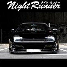 Night Runner Car Styling and Decals Vinyl Auto Rear Windshield Window Door Decorate Stickers Applique
