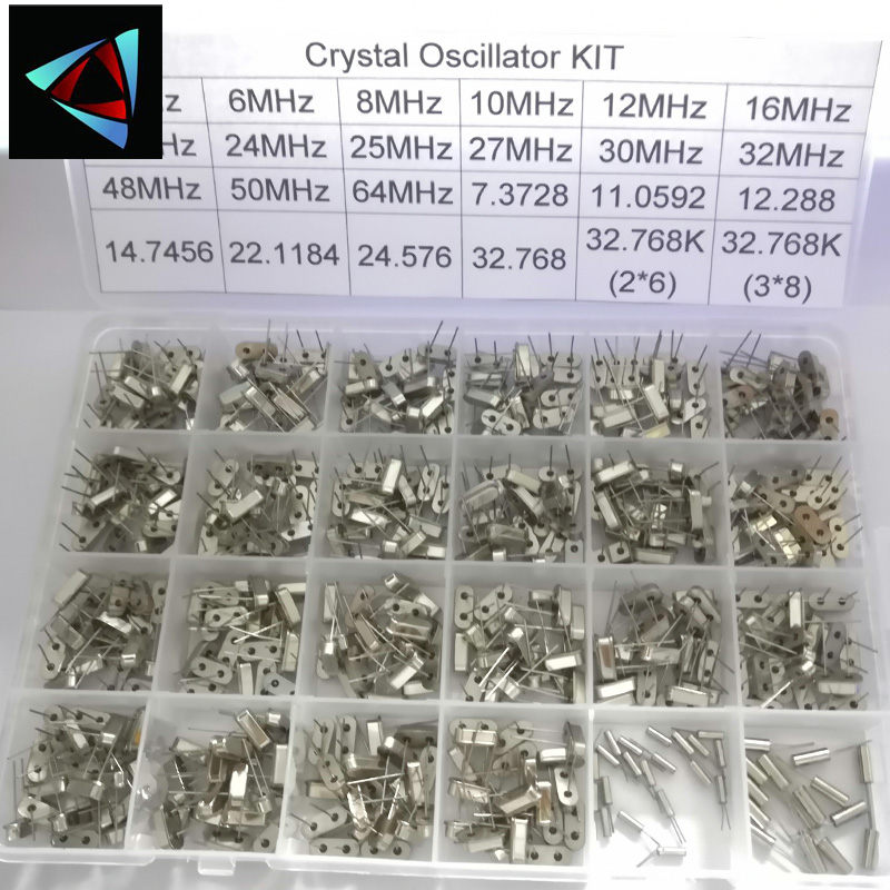 hc-49s 24 kinds X20pcs Crystal Oscillator electronic Kit resonator ceramic quartz resonator hc-49 DIP <font><b>32.768</b></font> 4 8 12 16 20 25 MHZ image