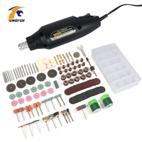 Tungfull elektronarzędzia DIY obróbka drewna Dremel Style grawer elektryczne akcesoria do elektronarzędzi Mini wiertarka do Dremel Mini młynek w Wiertarki elektryczne od Narzędzia na