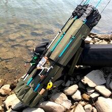 GHOTDA torby wędkarskie pręt Pesca Carrier Fishing Lure Pole skrzynka na narzędzia kołowrotek torba na drobiazgi
