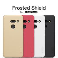 Capa para lg g8 thind nillkin telefone super fosco escudo caso capa traseira para lg g8/v40 thinq/g7/g8 thinq plástico caso duro|leather case|case case|lg case -