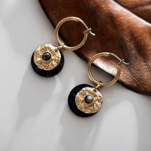 Fever&Free 2019 New Alloy Hoops Earrings Double Layer Small Round Gold Women Boho Earrings With Stone Pendientes Fashion Jewelry national wind alloy jewelry round stone earrings