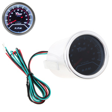 "2"" 52mm 0 ~ 10000RPM Car Vehicle White LED Universal Tachometer Tacho Gauge Meter RPM free shipping super tacho pro 2008 unlock version odometer correction universal programmer tacho 2008 07 best quality"
