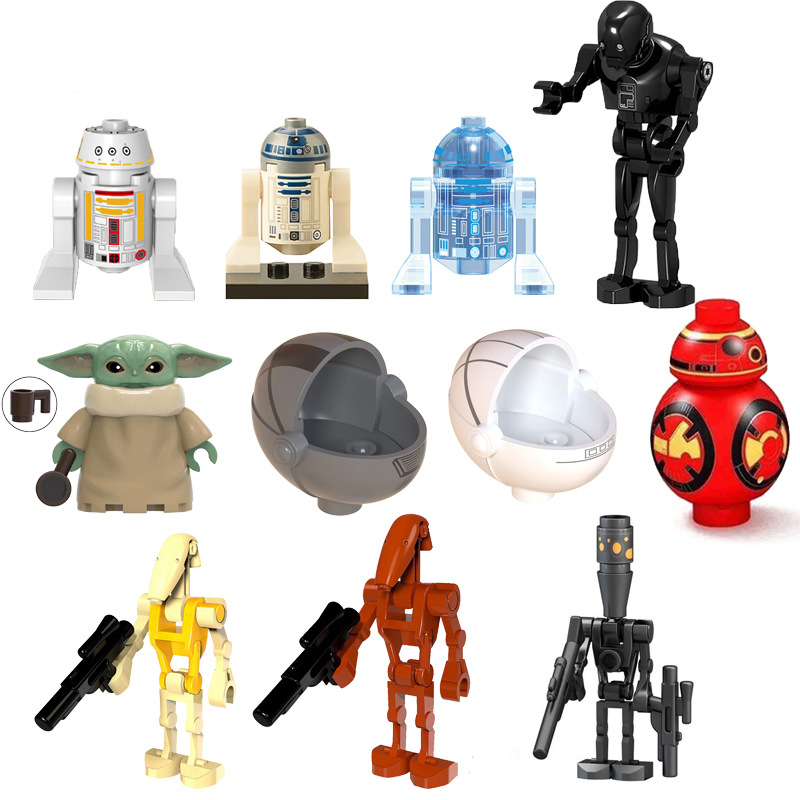 Фигурки фильмов робот-фигурка игрушки для детей аксессуары Подарки для детей сборные модели-роботы совместимые строительные блоки