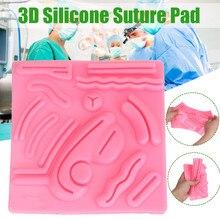 3D Silicone Lifelike Medical Set Surgical Suture Skin Kit Model Suture Practice Pad Simulator for Training Laparoscope Skin