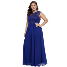 BacklakeGirls Round Neck Sexy Lace Cut Out Chiffon Sleeveless Mother Of The Bride Dresses Plus Size Wedding Gust Dress