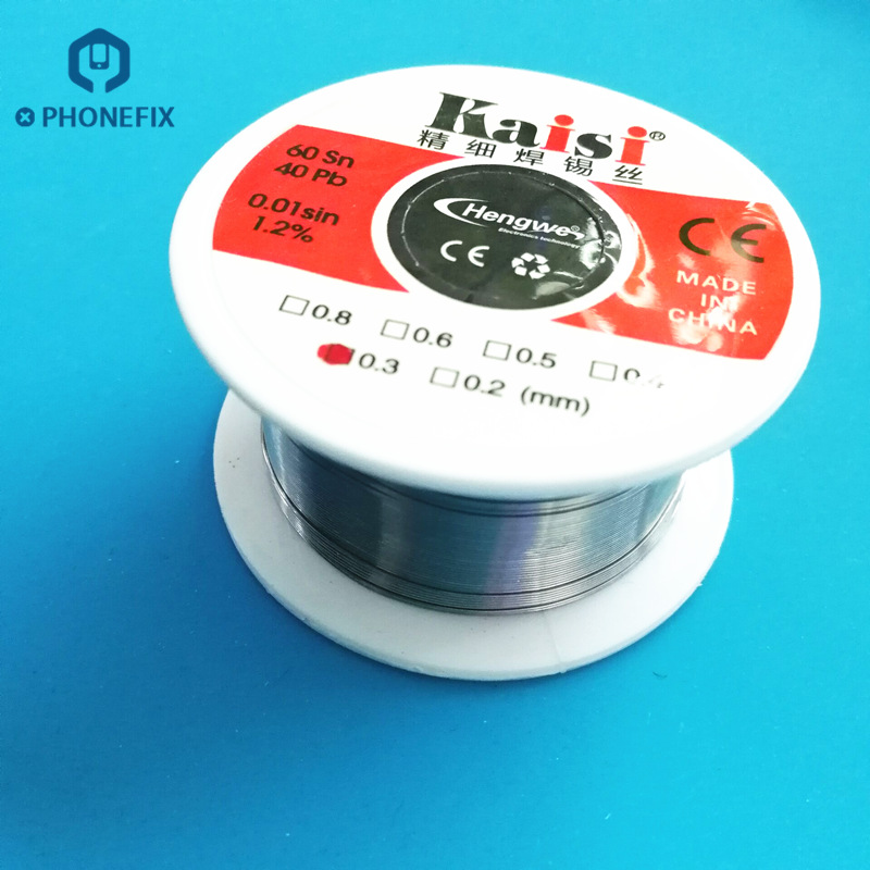 PHONEFIX Solder Wire Lead Rosin Core Solder Wire Soldering Tin Wires 0.3mm 0.4mm 0.5mm 0.6mm For Mobile Phone Tablet Repair