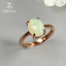 8*10mm Simple Opal Ring Oval cut 1.8ct natural Ethiopia Opal