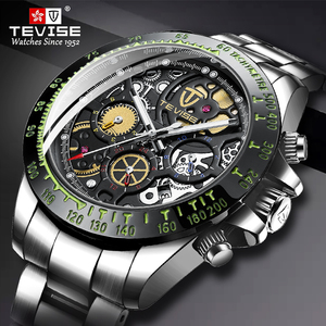 Relogio Masculino TEVISE Mens Watches Top Brand Luxury Automatic Mechanical Watch Full Steel Business Waterproof Sport Watches