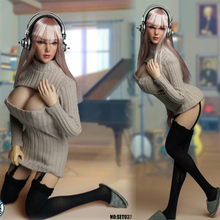 In Stock 1/6 Scale Sexy Beauty Girl Cosplay Head Sculpt & Clothes Accessory Set Model SET037 for 12 Larget Bust Body
