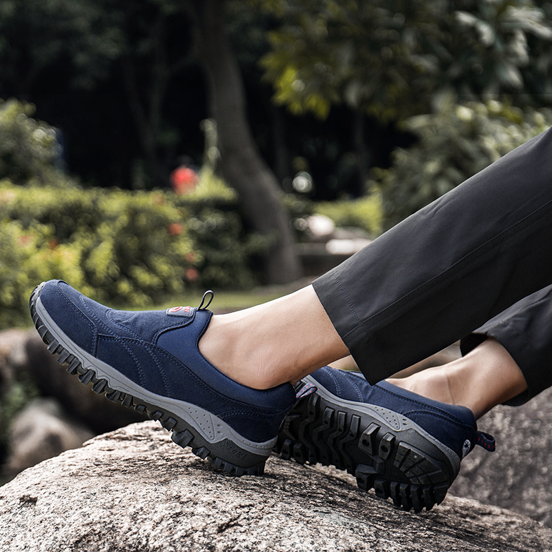 Hot Sale Men Shoes Loafers Couple Plus Size Hiking Sneakers Mens Autumn Non-slip Casual Lazy Shoes Comfortable Chaussure NA02
