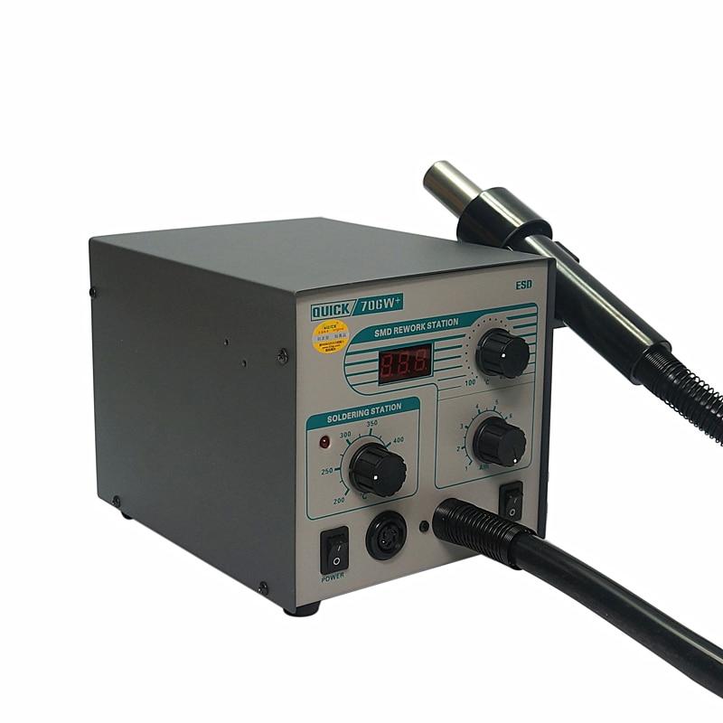 Tools : QUICK 706 W   Digital Display Hot Air Gun Soldering Iron Antistatic Temperature 2 in 1 Lead Free Rework Station