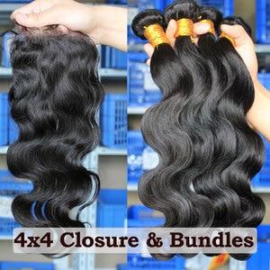 Image 5 - Ever Beauty Brazilian Hair Weave Bundles Body Wave Bundles With Closure Human Hair Extension 3 Bundles Deal Virgin Natural Black