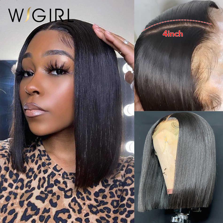 Wigirl 150 densità bob parrucche dei capelli umani anteriore del merletto parrucca di Remy 13x4 pre strappato breve rettilineo Frontale Parrucche per le donne nere