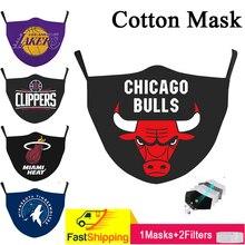 2021 fashion 3D Printing Washable and Reusable Basketball Club Adult Children Adjustable Ear-hook Cotton Masks