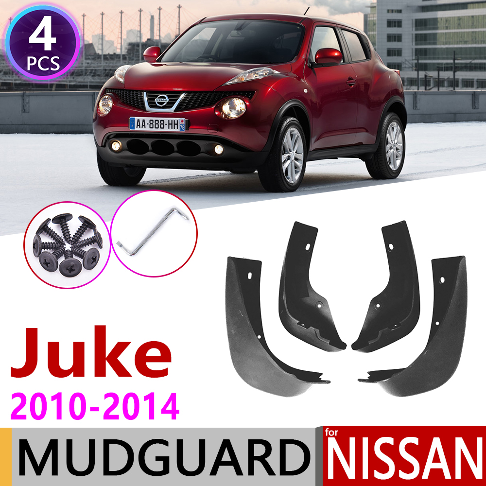 4 PCS Front Rear Car Mudflap For Nissan Juke F15 2010~2014 Fender Mud Guard Splash Flaps Mudguards Accessories 2011 2012 2013