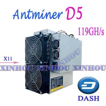 ASIC Miner Bitmain Antminer D5 119G Dash X11 With Power Supply Better Than D3   T9 S9 DR3 WhatsMiner M3X D1 Baikal BK-G28