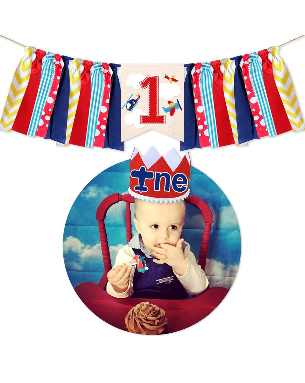 Airplane Theme Baby Birthday Birthday Flag Set Birthday Party Party Banner Decoration Supplies Anniversary Children Party Suppli