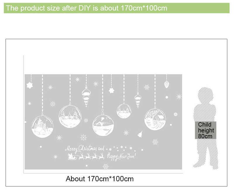 2020 Anno Nuovo Buon Natale Decorazioni per la Casa Fiocco di Neve Hut Autoadesivo Della Parete Negozio di Finestra di Vetro Della Decorazione Smontabile Autoadesivo del PVC