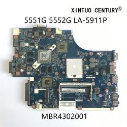Mbr4302001 para acer aspire 5551g 5552g portátil placa-mãe new75 LA-5911P com hd5650m 1gb ddr3 100% testado trabalho