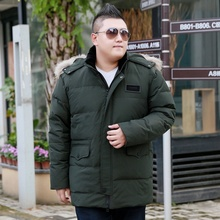 hooded jacket men #8217 s new 10XL 11XL 9XL 8XL 7XL plus size XL middle-aged tide oversized Winter coat down parka men cheap Loose Casual zipper Full Pockets Thick (Winter) Broadcloth Polyester White duck down Hat Detachable 250g-300g Solid Long