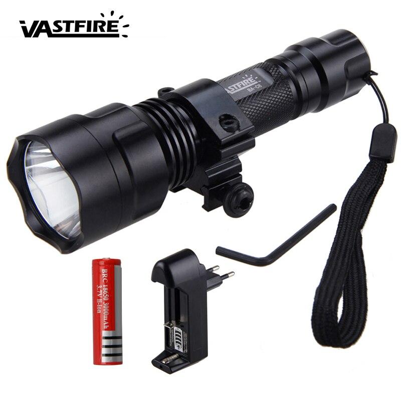 Vastfire 850nm rouge Vision nocturne arme lumière lampe de poche LED infrarouge IR tactique extérieur fusil chasse torche + monture