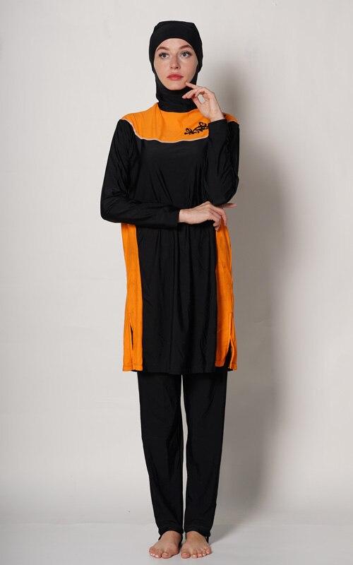 Plus Size Muslim Swimwear Women Modest Floral Print Full Cover Swimsuit Islamic Hijab Islam Burkinis Beachwear Bathing Suit