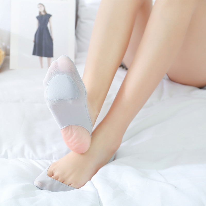 Summer Thin Sock Slippers Women Ice Silk Socks Women Invisible Socks Forefoot Plus Foot Pad Anti-pressure Non-slip Mop New