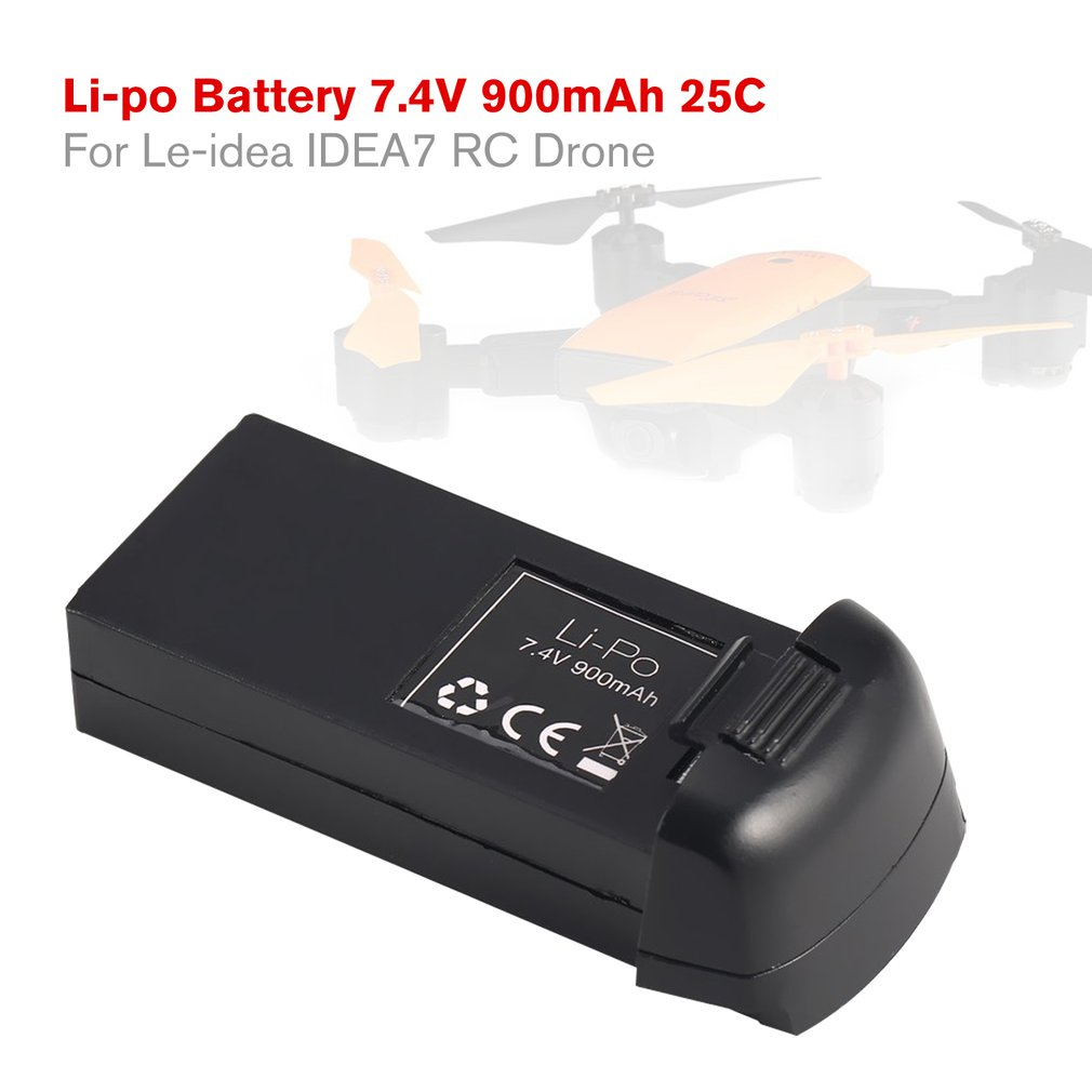 <font><b>7.4V</b></font> <font><b>900mAh</b></font> Li-po <font><b>Battery</b></font> for Le-idea IDEA7 <font><b>RC</b></font> Drone 25C 2S Rechargeable <font><b>Battery</b></font> Spare Parts Accessories Quadcopter Aircraft UAV image