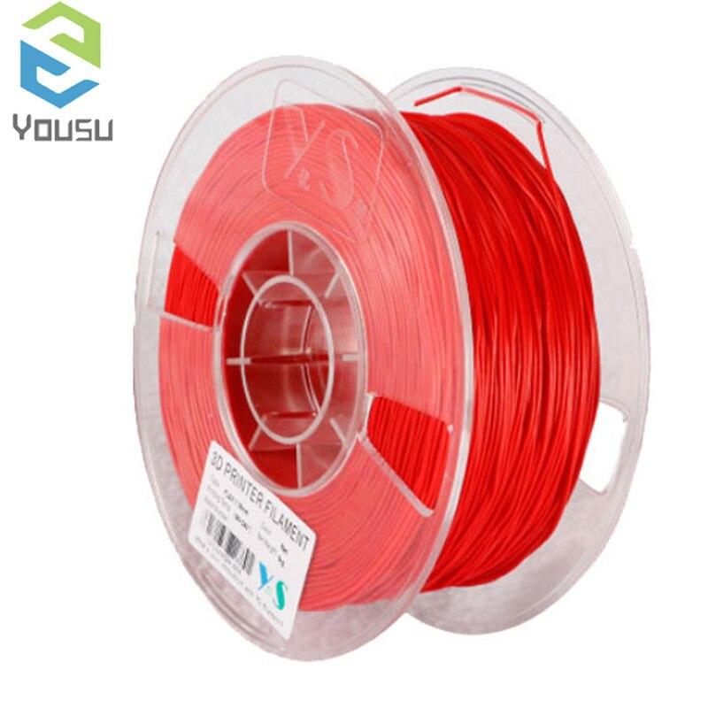 ABS PLA PETG NYLON!!! Yousu Original 3d filamento plástico para impressora 3d e 3d pen/muitas cores/transporte expresso