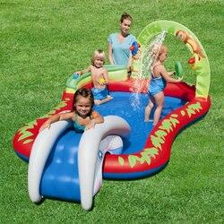 Новая водная горка, веселые лужайки, водные горки, надувные бассейны для детей, летняя детская горка, набор для двора, уличные игрушки для де...
