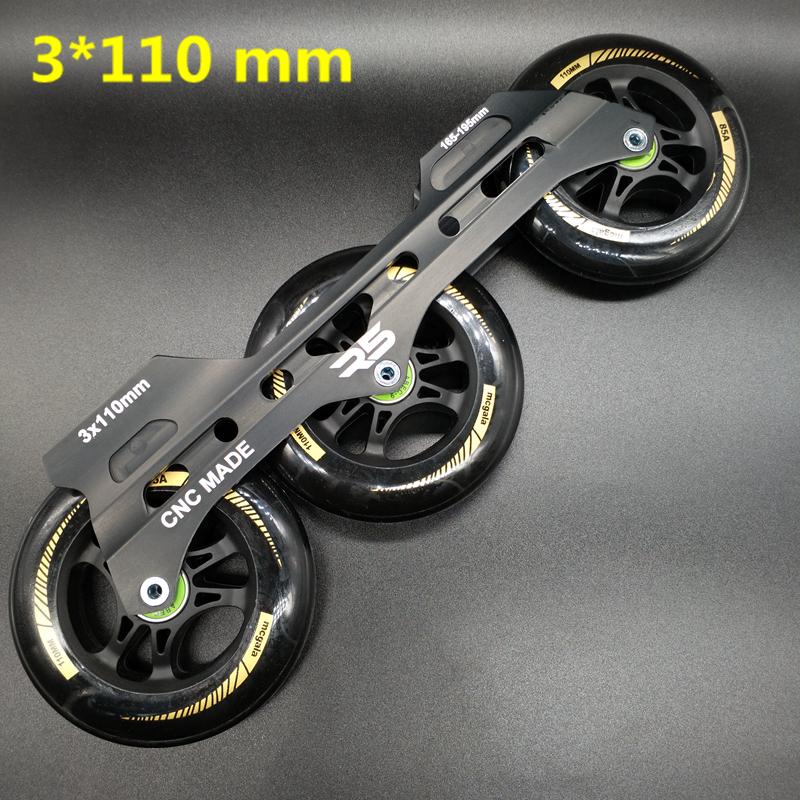 Free Shipping Speed Skates Frame 3 X 110 Mm With Wheels Abec-9 Bearing