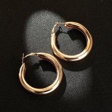 Большие золотые серьги кольца корейские модные для женщин 2020