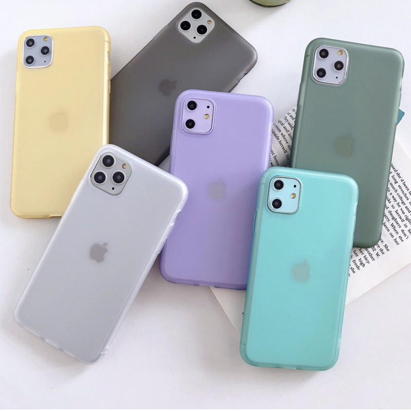 Liquid Emulsion Soft Silicone Matte Phone <font><b>Case</b></font> For <font><b>iPhone</b></font> 7 <font><b>6S</b></font> 8 Plus X XR 11 Pro XS Max <font><b>Original</b></font> Transparent Cover <font><b>Case</b></font> Shell image