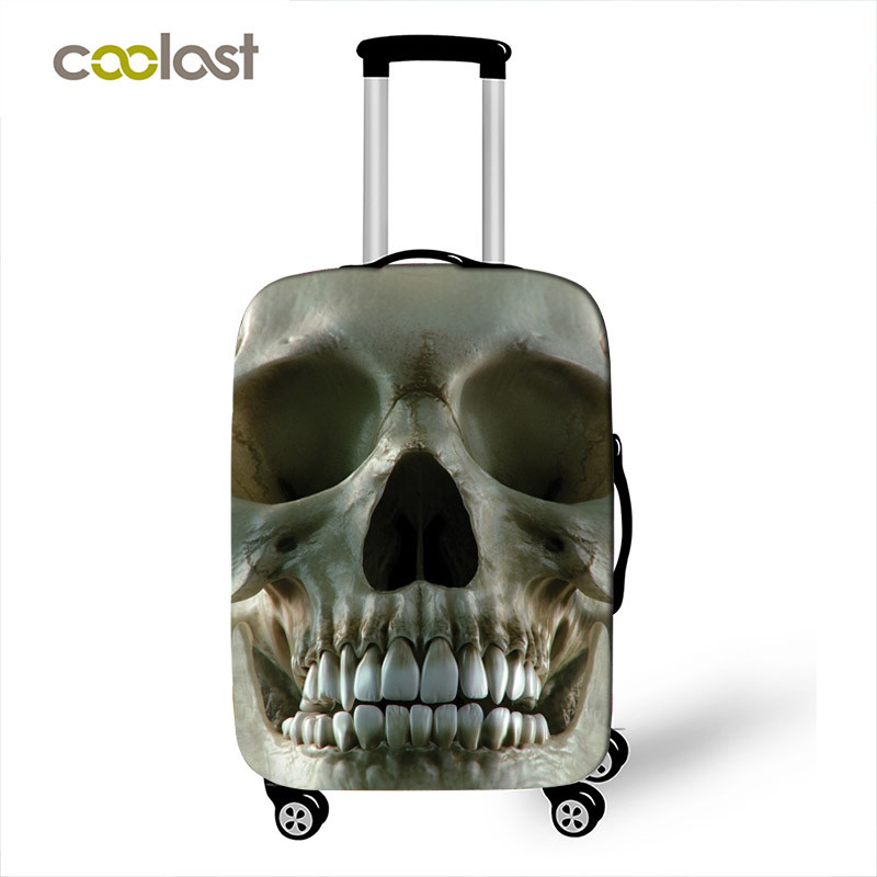 Travel Luggage Cover Unicron Skeleton Colorful Skull Head Suitcase Protector
